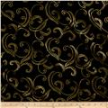 Kanvas Autumn Splendor Metallic Gold Garland Black