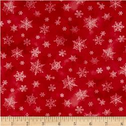 Holiday Elegance Snowflakes Red