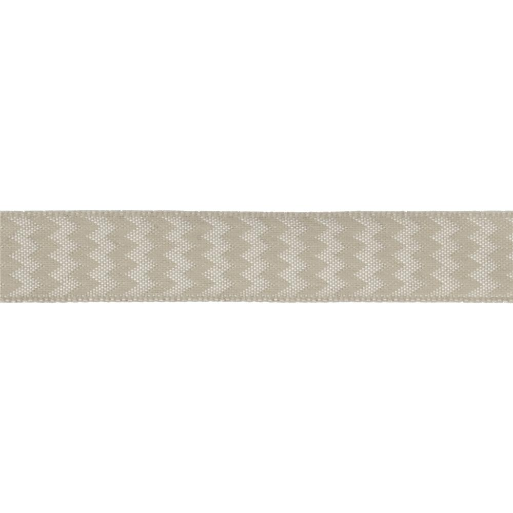 "5/8"" Chevron Stripe Wired Ribbon Taupe"
