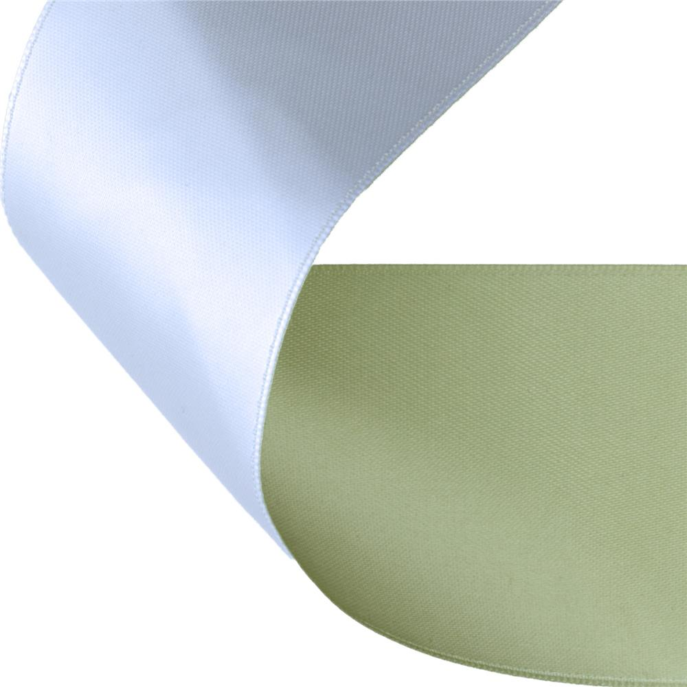 2'' Satin Reversible Ribbon Celery/White