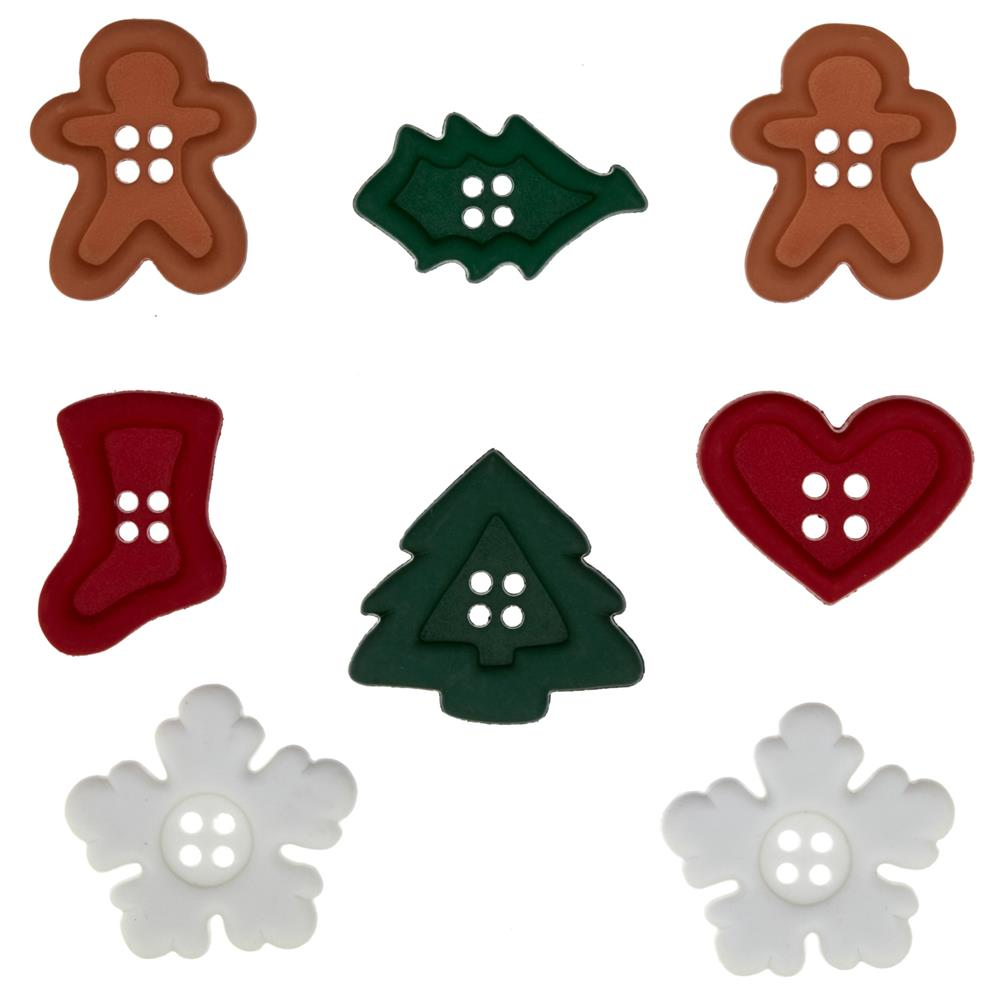 Dress It Up Embellishment Buttons  Holiday Medley