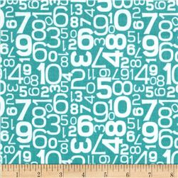 Riley Blake Gracie Girl Numbers Blue