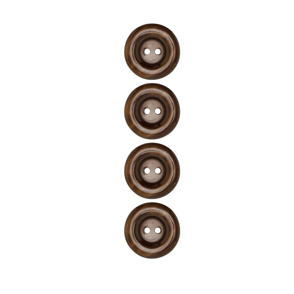 "Riley Blake Sew Together 1"" Pearl Button Brown"