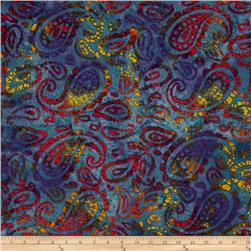 Indian Batik Seycheles Paisley Purple