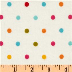 Riley Blake Sunny Happy Skies Flannel Dot White