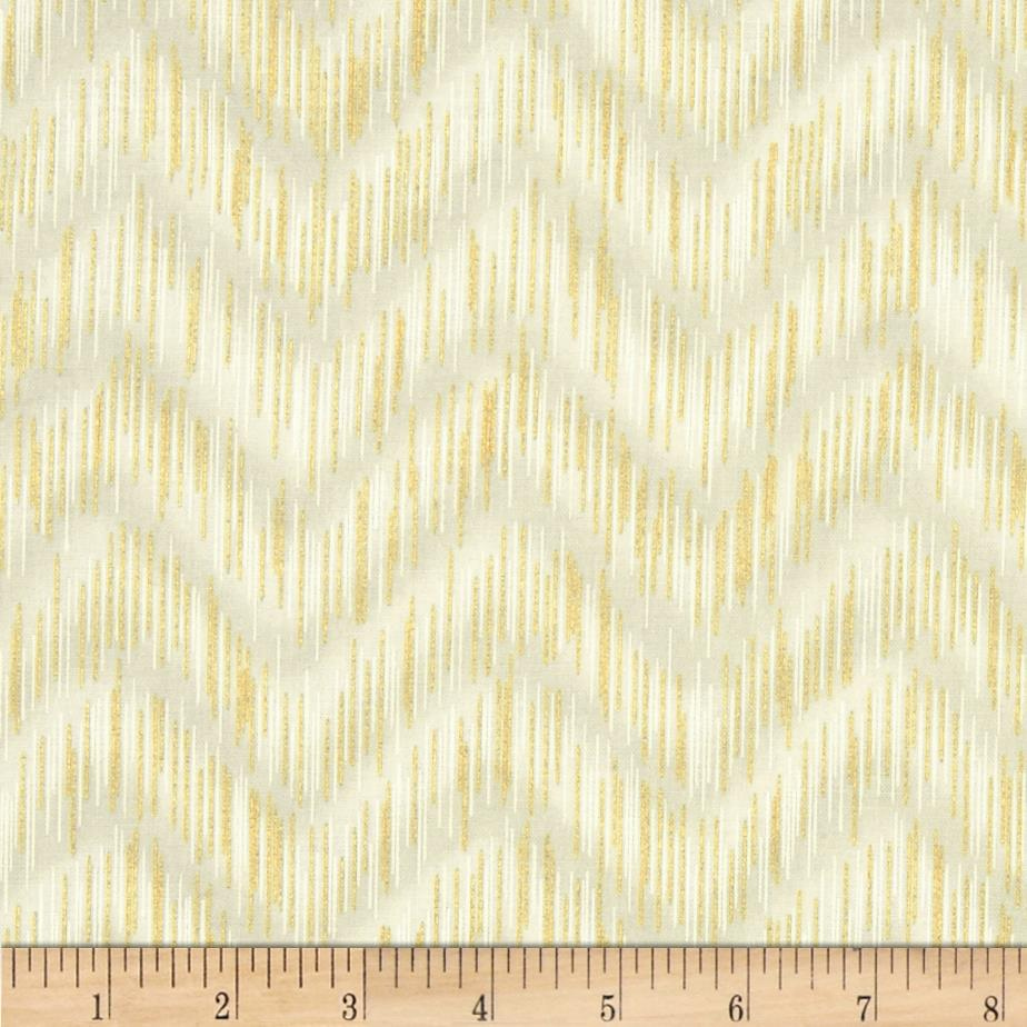 Imperial Collection Metallics Dash Chevron Ivory