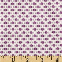 Candy Jacquard Dots Purple Fabric