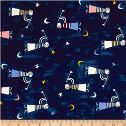 Cotton + Steel Noel Angel Singing Navy
