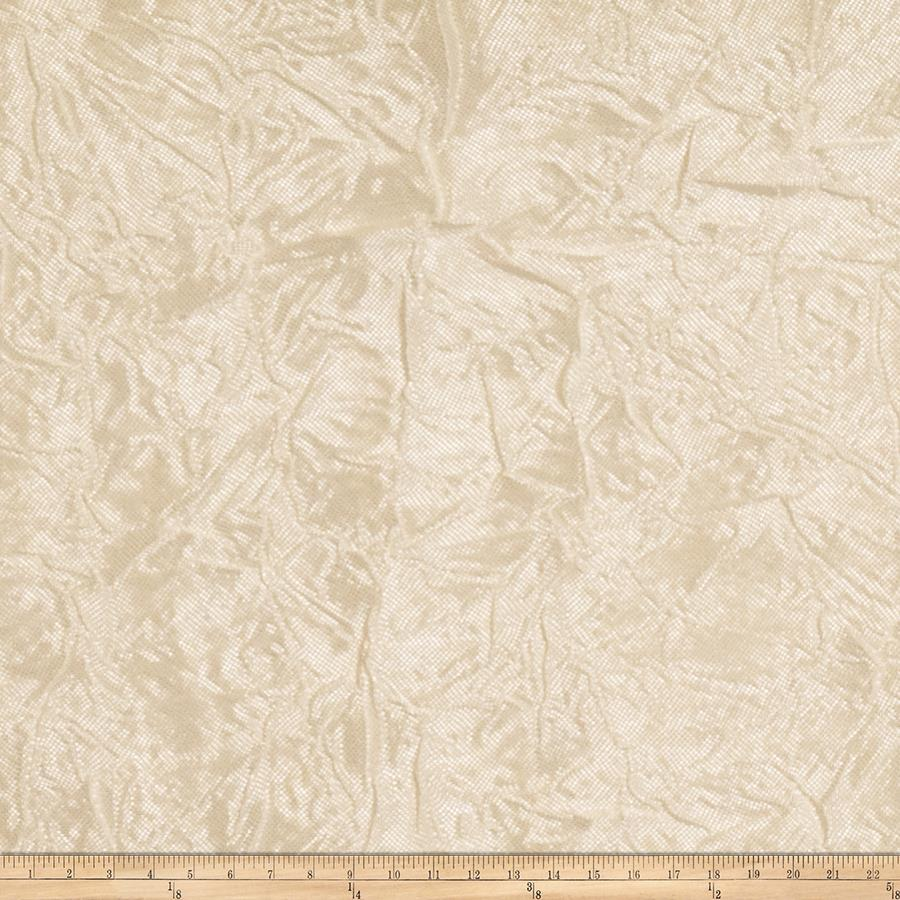Trend 01340 crinkle sheer voile vanilla discount for Sheer fabric