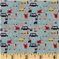 Riley Blake Holiday Banners 2 Boys Cars Grey