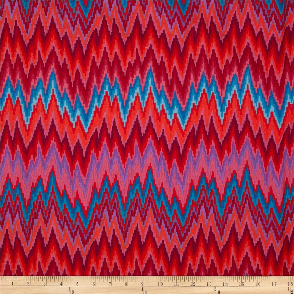 Kaffe Fassett Spring 2013 Collection Flame Stripe Red