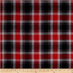Yarn Dyed Flannel Plaid Red/Grey