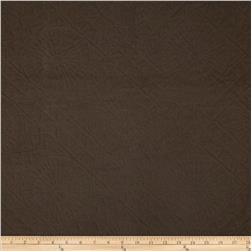 Duralee Diamond Medallion Matelasse Chocolate