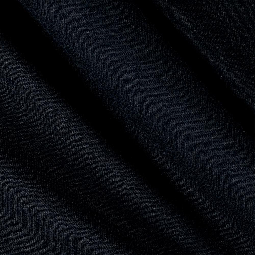 Cotton Jersey Knit Solid Black Fabric By The Yard