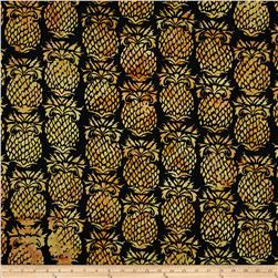 Island Batik Downtown Black/Tan Pineapple