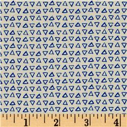 Cotton + Steel Printshop Point Blue