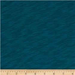 Jersey Cotton Slub Knit Dark Teal Blue