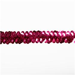 1'' Stretch Sequin Trim Fuchsia