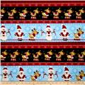 Timeless Treasures Holiday Flannels Winter Reindeer Border Stripe Multi