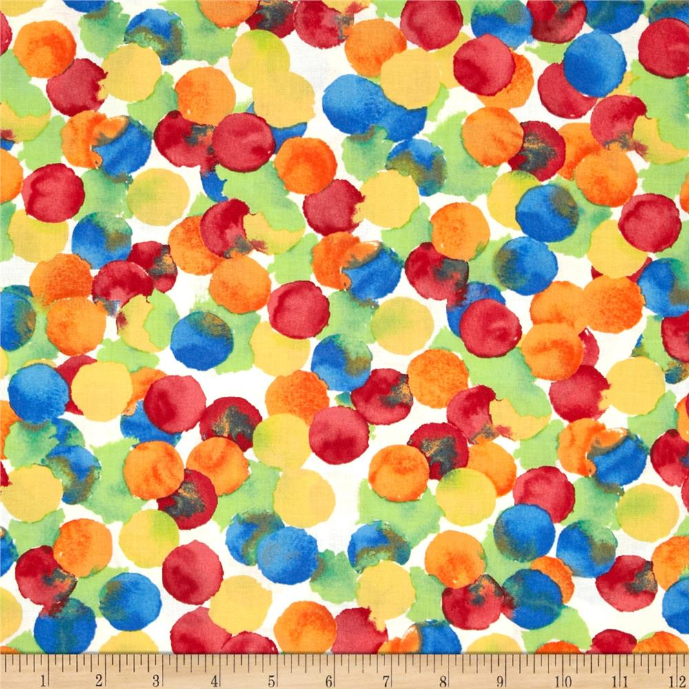 Michael Miller Painterly Bubbly Primary