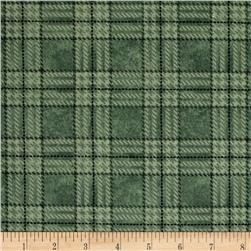Folk Art Flannels Plaid Green