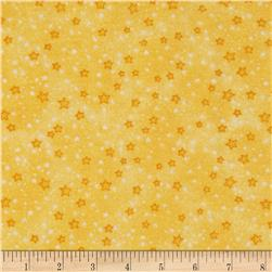 Flannel Stars Yellow Fabric