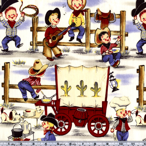 Michael Miller Lil' Cowpokes Denim Fabric