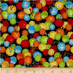 Knit Happy Packed Yarn Balls Black