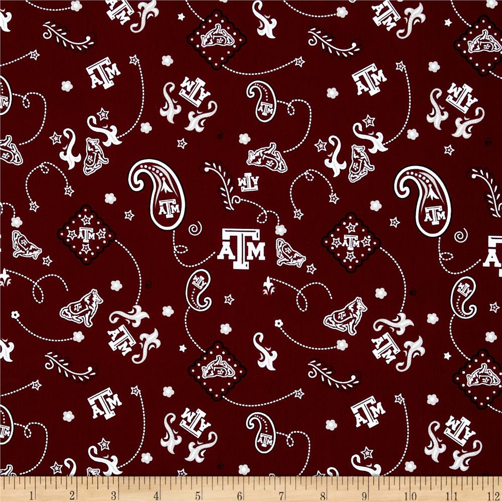 Collegiate Cotton Broadcloth Texas A&M University Maroon