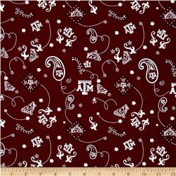 Collegiate Cotton Broadcloth Texas A&M Orange