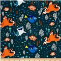 Disney Finding Dory Characters & Coral Dark Teal