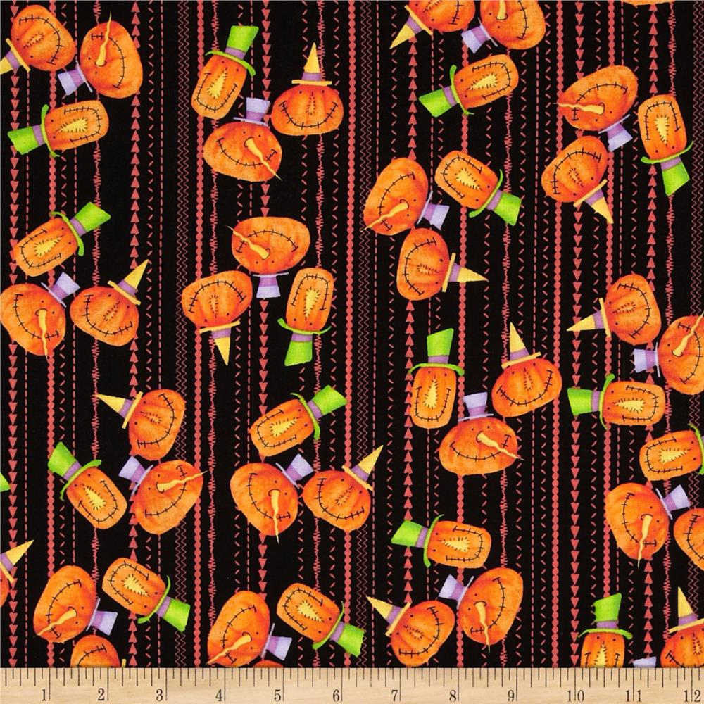 Hocus Pocus Pumpkin Stripe Orange