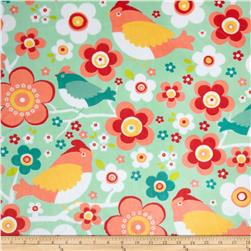 Adorn-it Minky Cuddle Daisy Bird Juicy Fruit Fabric