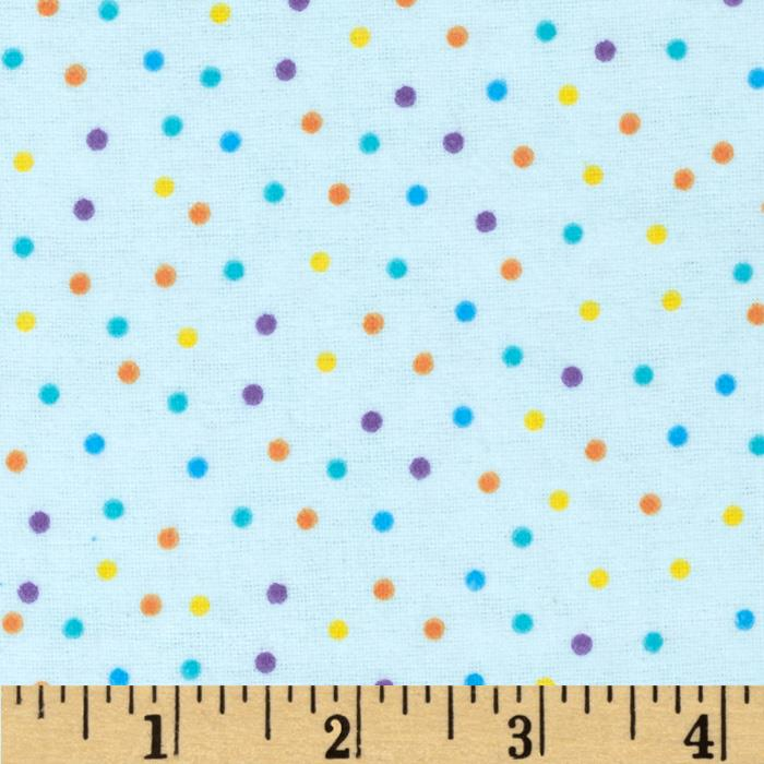 Flannel Mini Dots Blue Fabric By The Yard