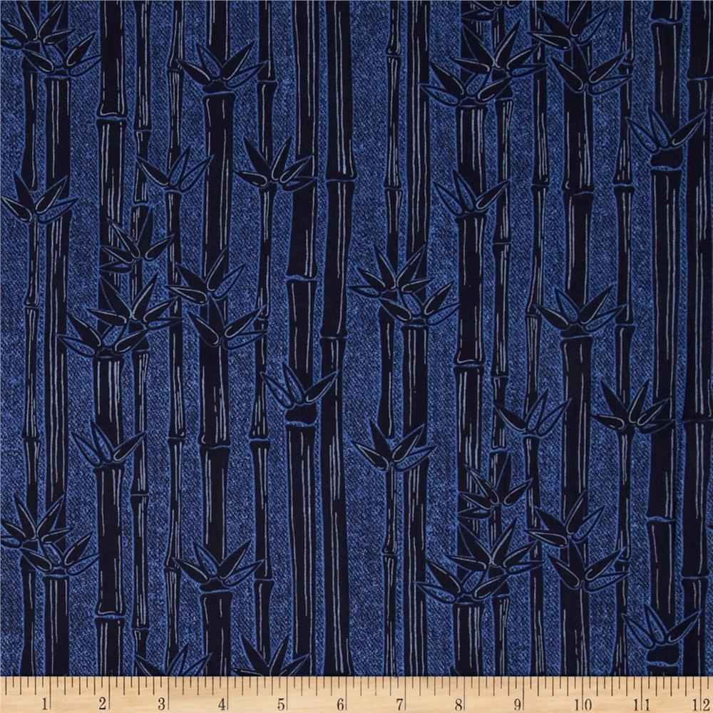 Kanvas Water Lily Bamboo Stripe Denim/Navy