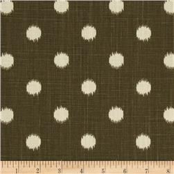 Premier Prints Ikat Dots Dossett Grapevine Brown