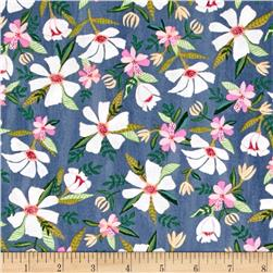 Blush & Blooms White Flower Floral Indigo