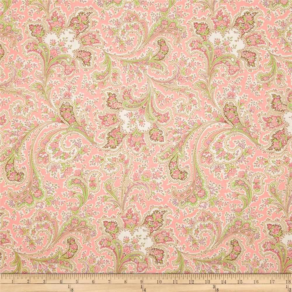 "108"" Wide Quilt Back Rosemont Malabar Rose"