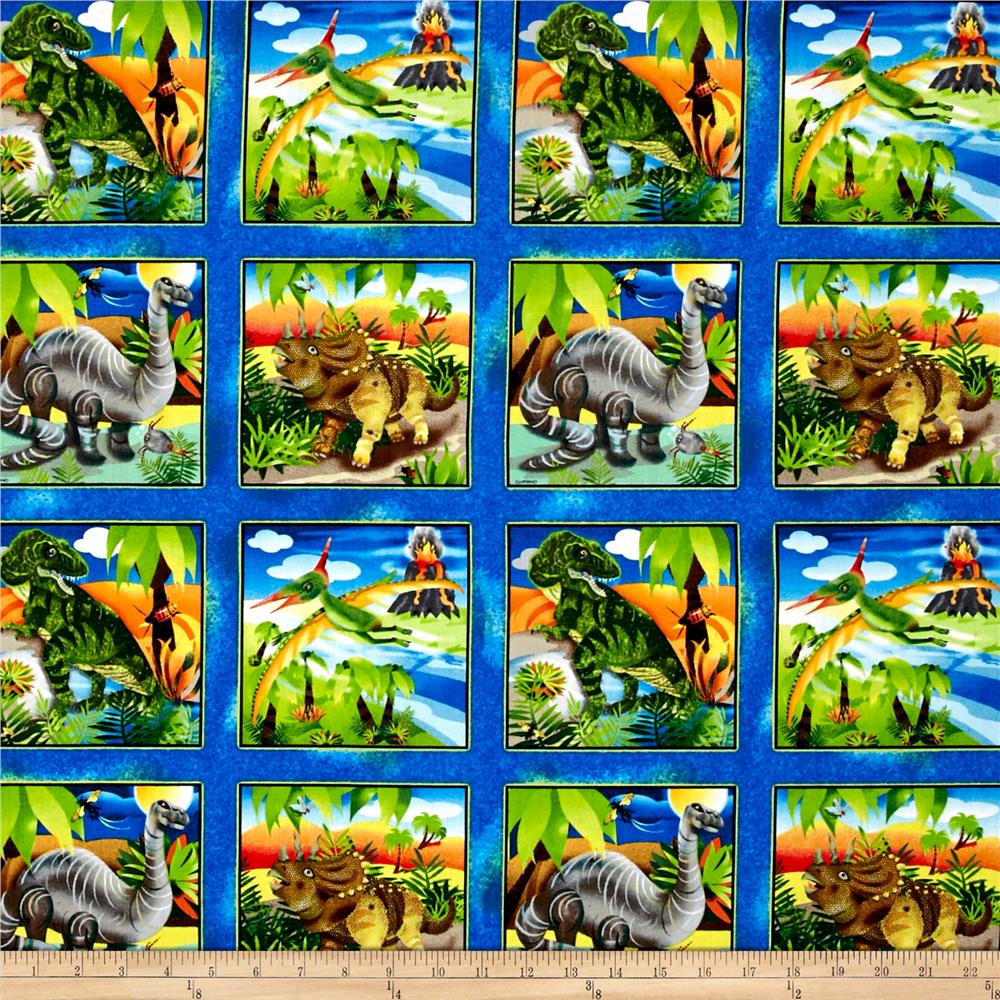 Dino-Might Square Patches Multi