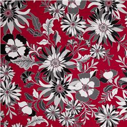 Black, White & Currant 4 Floral Red