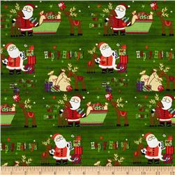 Christmas Novelties Happy Holiday's Santa Green