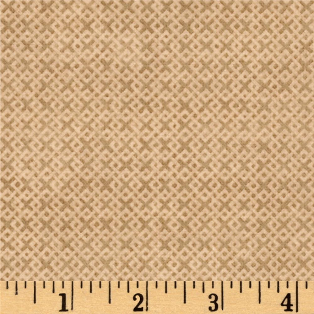 Criss Cross Flannel Tan Fabric By The Yard