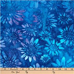 Kaufman Batiks Greenhouse Flower Head Cornflower
