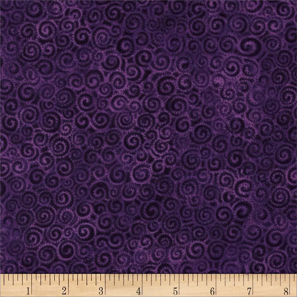 Laura Burch Swirls Purple