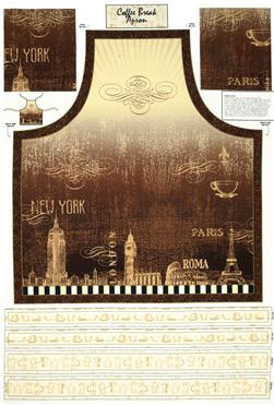 Coffee Break Apron Panel Multi