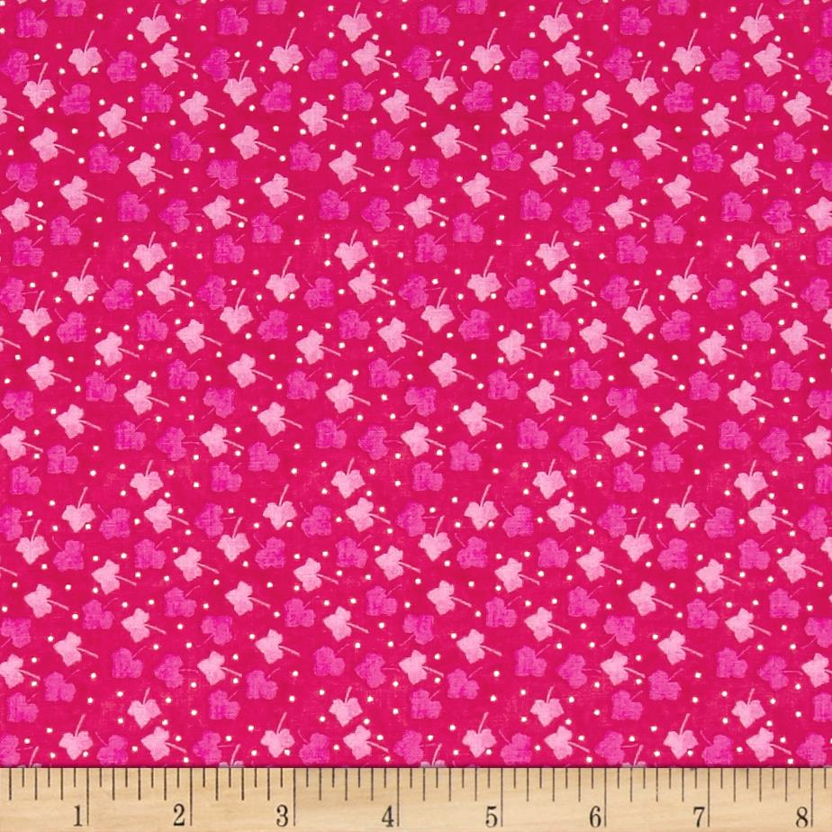 Nel Whatmore Ghost Leaf Dot Pink