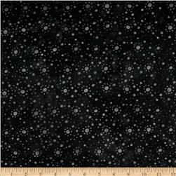 108'' Wide Essentials Quilt Backing Dot Burst Black