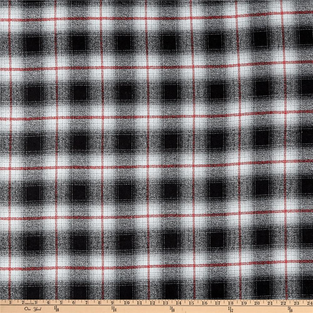 Kaufman Mammoth Flannel Plaid Grey Fabric By The Yard