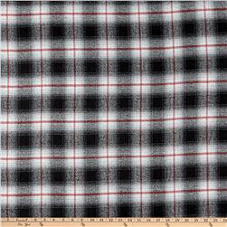 Kaufman Mammoth Flannel Plaid Grey Fabric