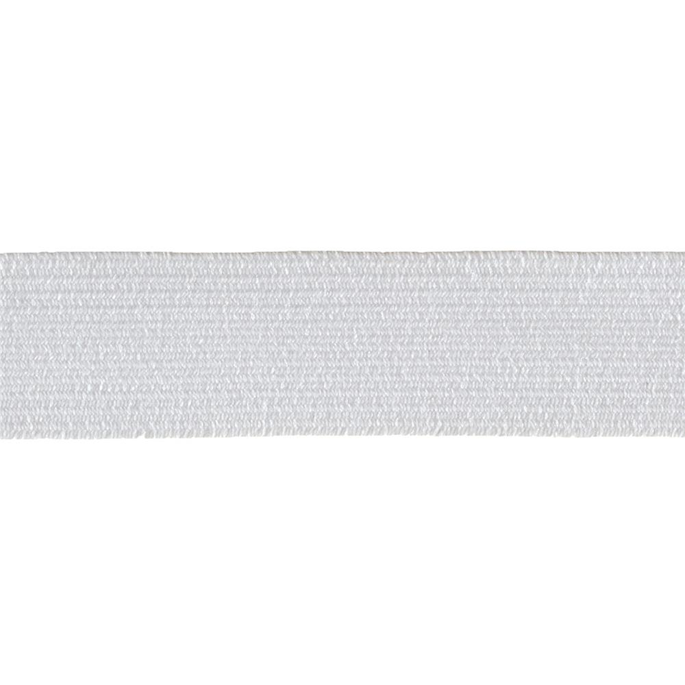 "3/4"" Braided Elastic White- By the Yard"